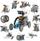 12-in-1 Solar Robot Creation Kit with Solar Powered Motorized Engine and Gears