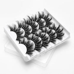 5Pairs 3D Mink Hair False Eyelashes Natural/Thick Long Eye Lashes