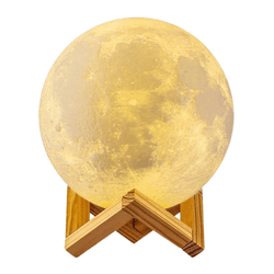 USB Rechargeable 3D Print Moon Lamp Night Light - OZ Discount Store