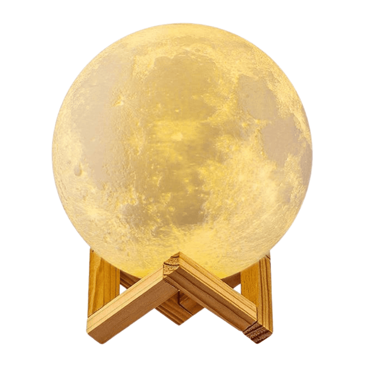 USB Rechargeable 3D Print Moon Lamp Night Light