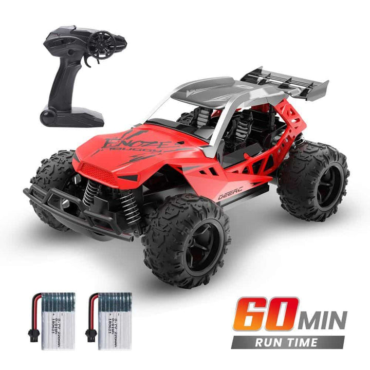 Racing RC Car Rock Crawler Radio Control Truck For Kids (Red RC Truck)