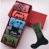 5 pairs of socks new design men's cotton socks funny gift box (Have Not Box US 7-10 EUR 39-44)