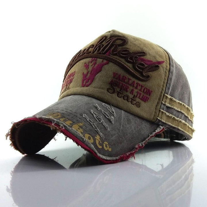 Collrown Baseball Cap Retro Sun Hat Embroidery Hats