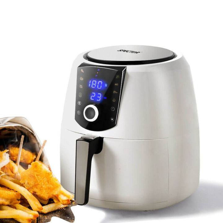 Spector 7L Air Fryer LCD Healthy Cooker Low Fat OilFree Kitchen Oven 1800W White - OZ Discount Store