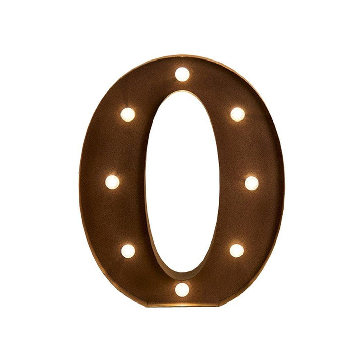 LED Metal Letter Lights Free Standing Hanging Marquee Event Party D?cor Letter O - OZ Discount Store