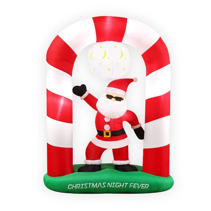 Inflatable Christmas Santa Snowman with LED Light Xmas Decoration Outdoor Type 7 - OZ Discount Store