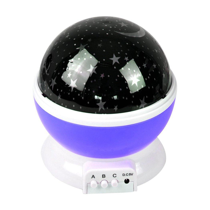Star Moon Sky Starry Night Projector Light Lamp For Kids Baby Bedroom Purple - OZ Discount Store