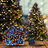25M 200LED String Solar Powered Fairy Lights Garden Christmas Decor Multi Colour
