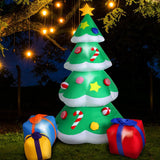 Inflatable Christmas Santa Snowman with LED Light Xmas Decoration Outdoor Type 3 - OZ Discount Store