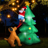 Inflatable Christmas Santa Snowman with LED Light Xmas Decoration Outdoor Type 1 - OZ Discount Store
