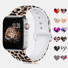 Load image into Gallery viewer, Drew Leopard Printed Silicone Strap