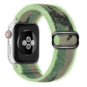 Gray/Grey Nylon Braided Strap For Apple iWatch