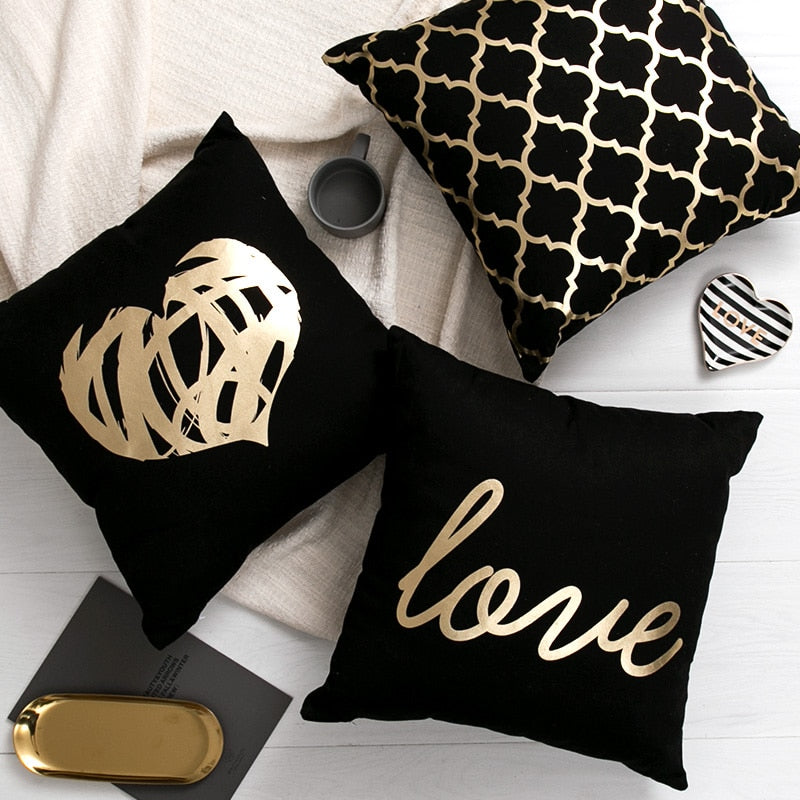 Gold Cushion Set