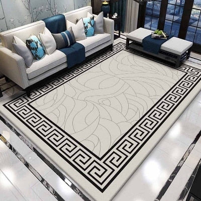 Black & White Modern Carpet