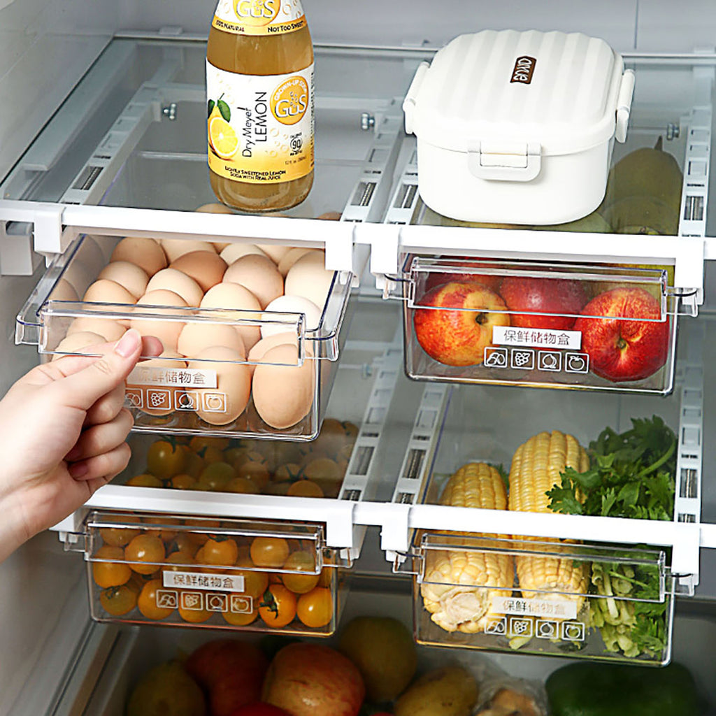 Slide Kitchen Fridge Storage Box
