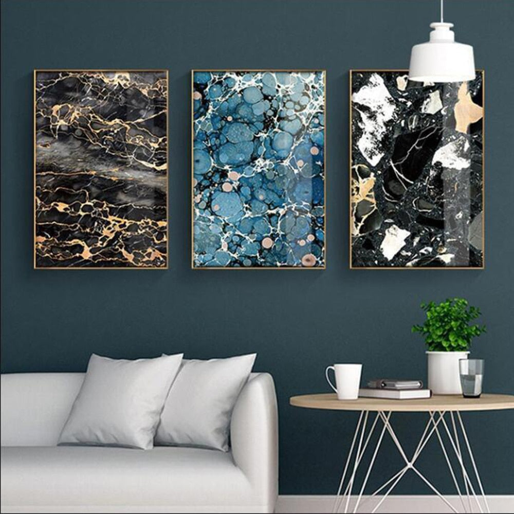 Abstract Marble Nordic Canvas