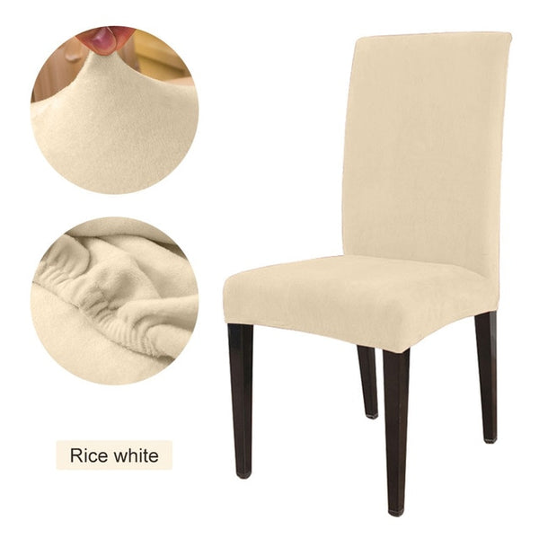 Solid Color Chair Cover