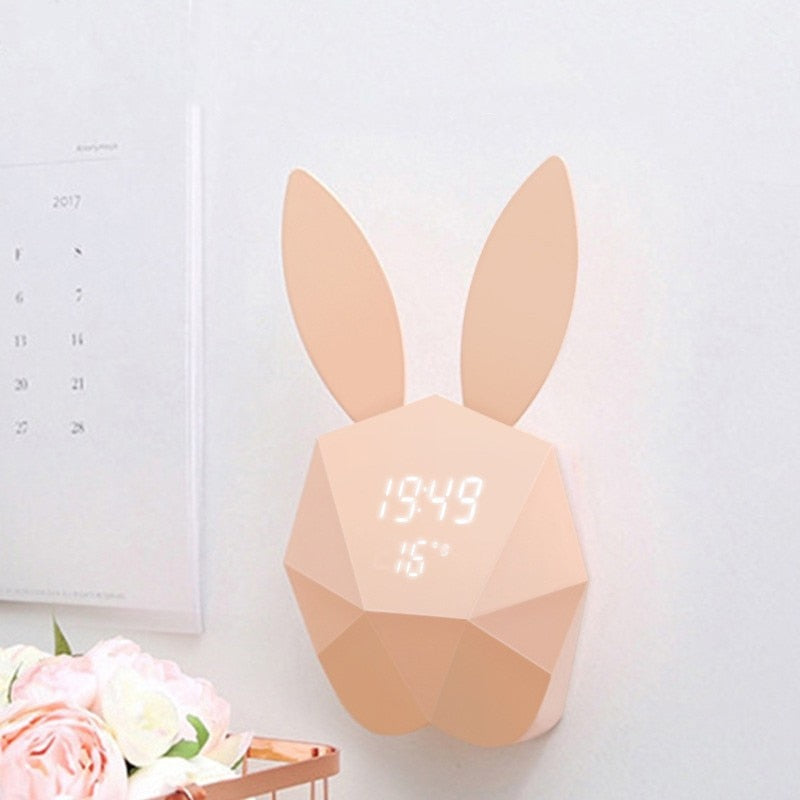Rabbit LED Alarm Clock