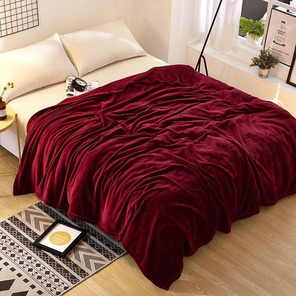 Solid Color Fleece Blankets
