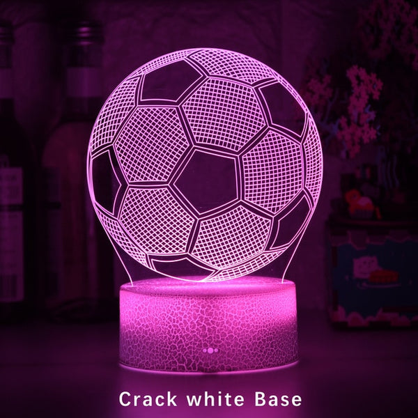 3d Illusion Child Night Light Football Ball Touch Sensor Remote Nightlight