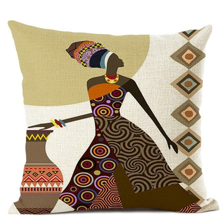 Almohadas decorativas  African ladies sofa decorative pillows