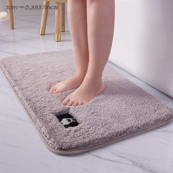 Thickened absorbent non-slip floor rug for bathrooms