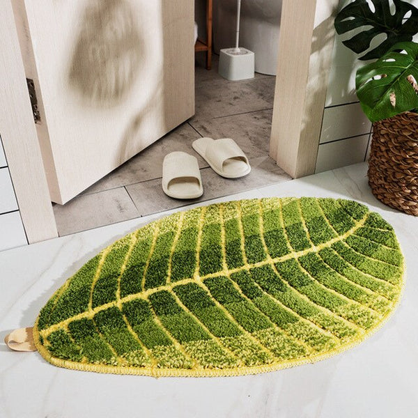 Leaf-Shaped Bathroom Mat