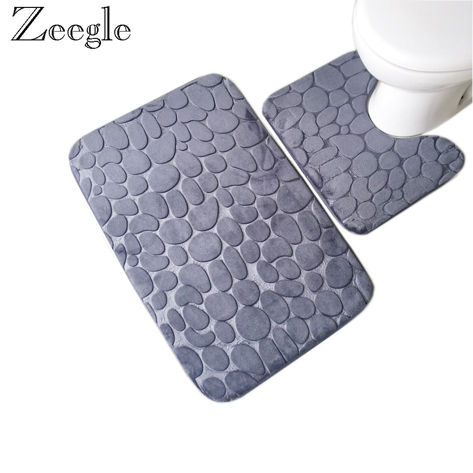 Stone Bathroom Mat Collection