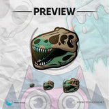 T-Rex Skeleton - Twitch Badges Bundle