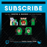 5 Custom Twitch Emotes - Bundle