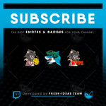 3 Custom Twitch Emotes - Bundle