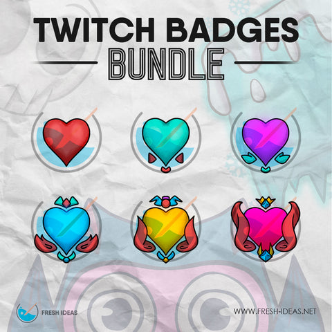 Hearts - Twitch Badges Bundle