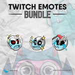 Cartoon Skull - Twitch Emotes Bundle