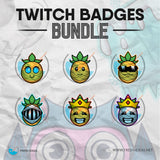 Pineapples - Twitch Badges Bundle