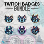 Alpha Wolf - Twitch Badges Bundle