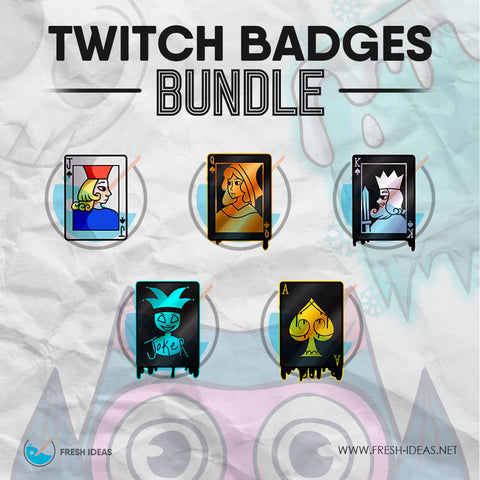 Poker cards - Twitch Badges Bundles