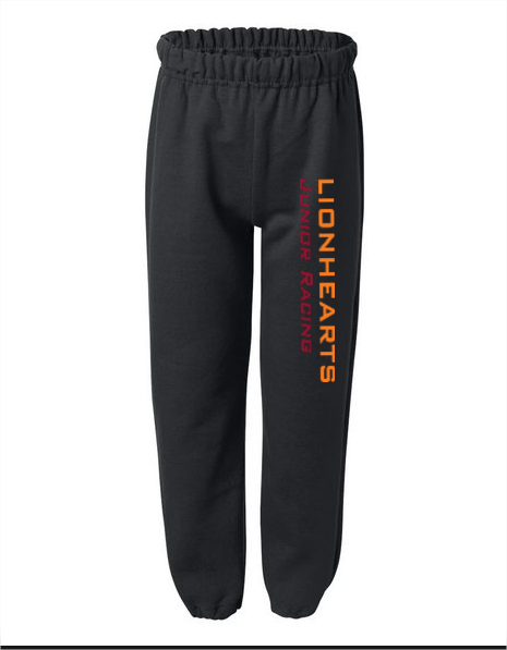 Youth Size - Lionhearts Racing sweatpants - black