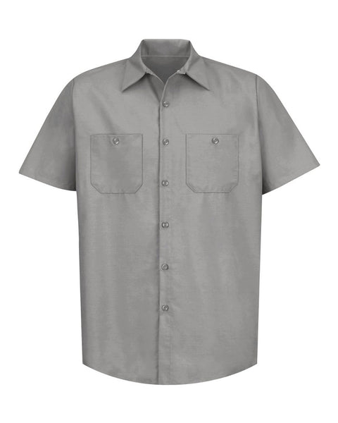 Red Kap Industrial Short Sleeve Work Shirt Plus Sizes
