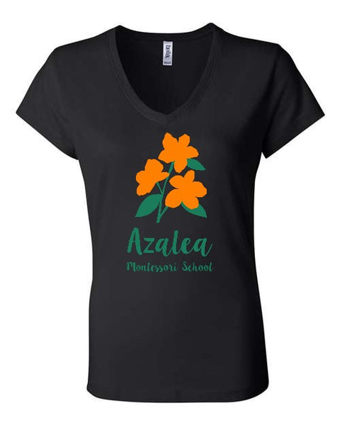 Azalea Montessori Two Color V-neck T-shirt