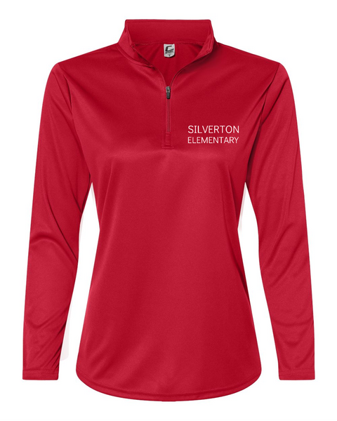Silverton Elementary Embroidered Women's Quarter-Zip Lightweight Pullover