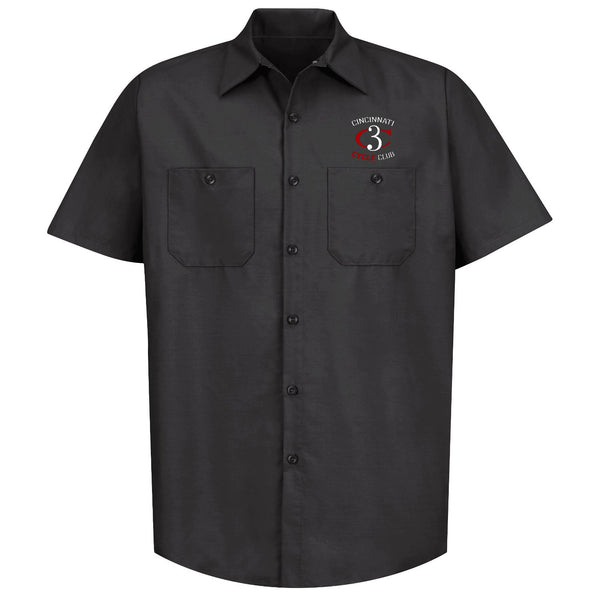 Cincinnati Cycle Club embroidered mechanic's shirt - black