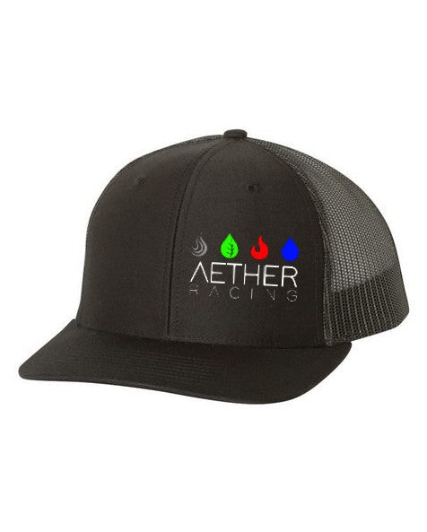 Aether Racing snapback hat - black