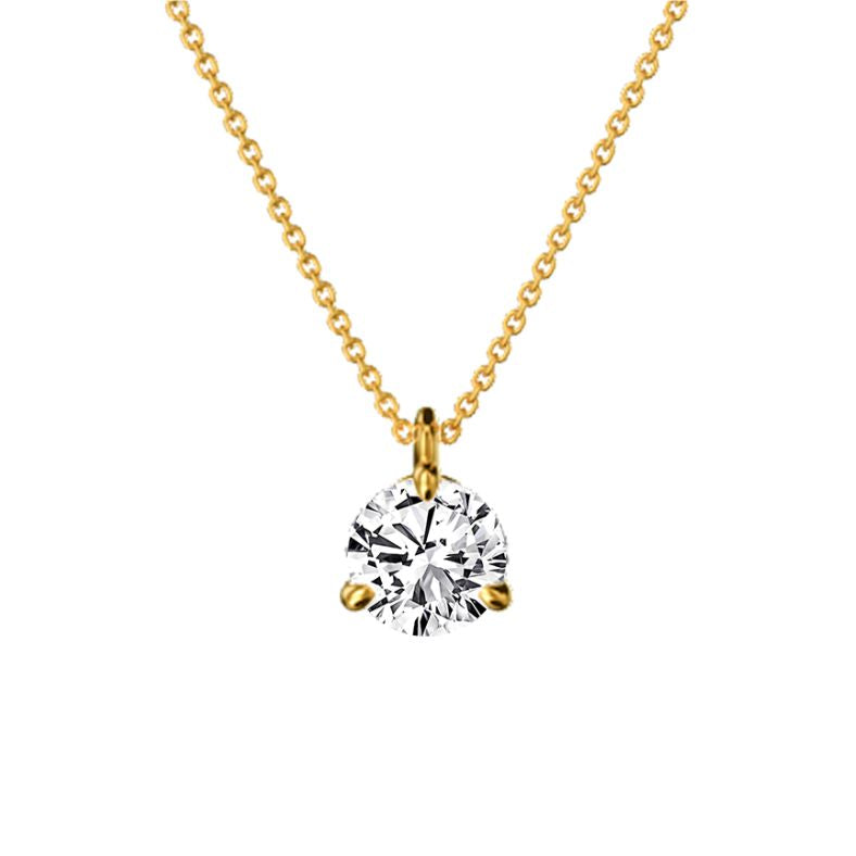 Collier diamant 0.50 ct or éthique Eva