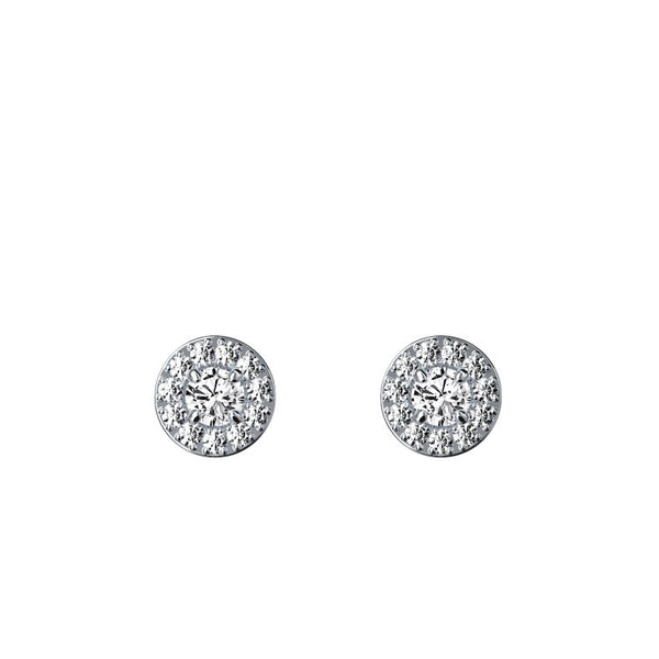 Boucles d'oreilles halo diamants 0.10 ct x 2 Valentine