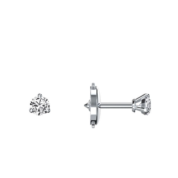 Boucles d'oreilles diamants 0.10 ct x 2 Eva