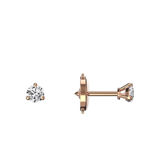 Boucles d'oreilles diamants 0.15 ct x 2 Eva