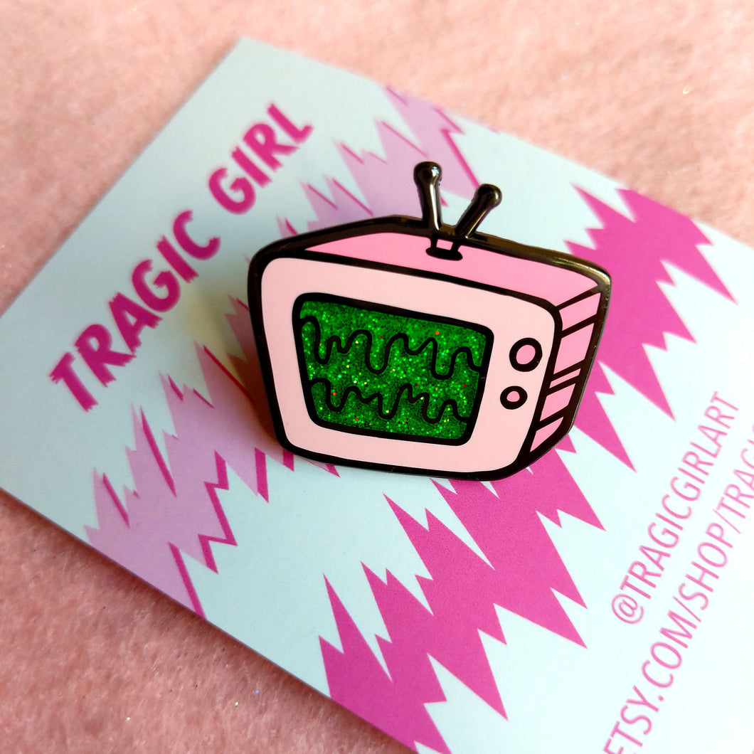 Slime TV Enamel Pin