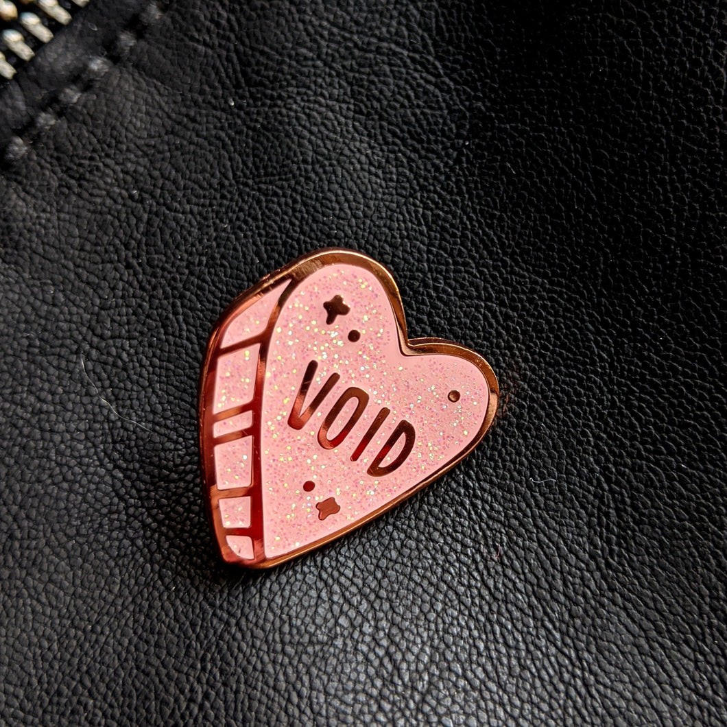 Void Heart Enamel Pin