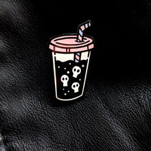 Load image into Gallery viewer, Soda Skull Enamel Pin