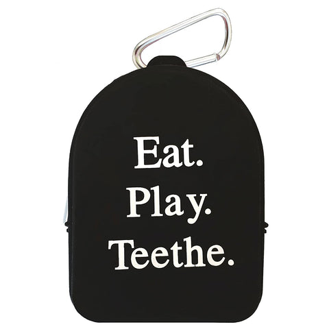 Teether Tote Black - Boyar Gifts NYC